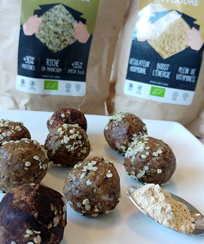 Energy Balls à la Maca & graines de Chanvre