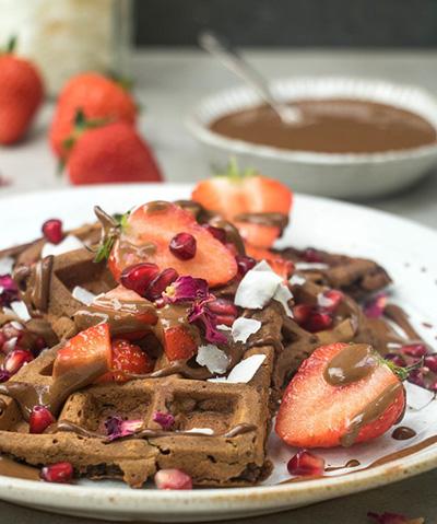 Gaufres protéinées au chocolat Vegan – Recette